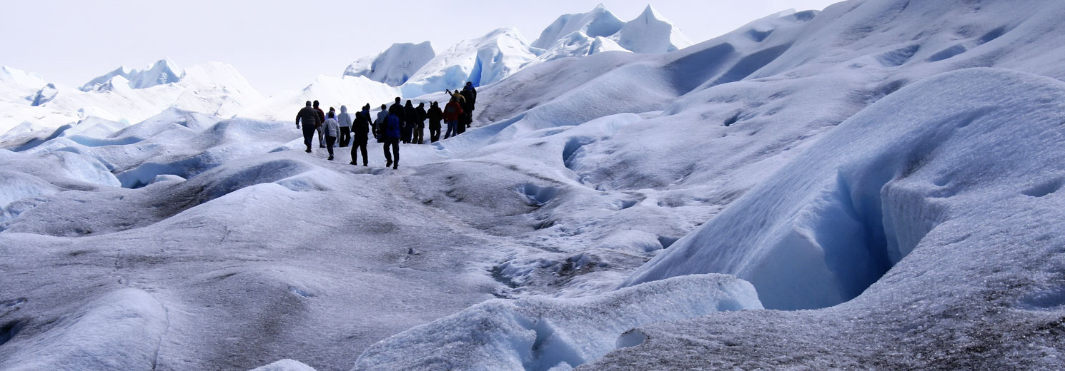 Walking on the glaciers
